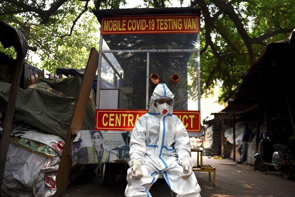 ინდოეთში კორონავირუსის 43 893 ახალი შემთხვევა დადასტურდა