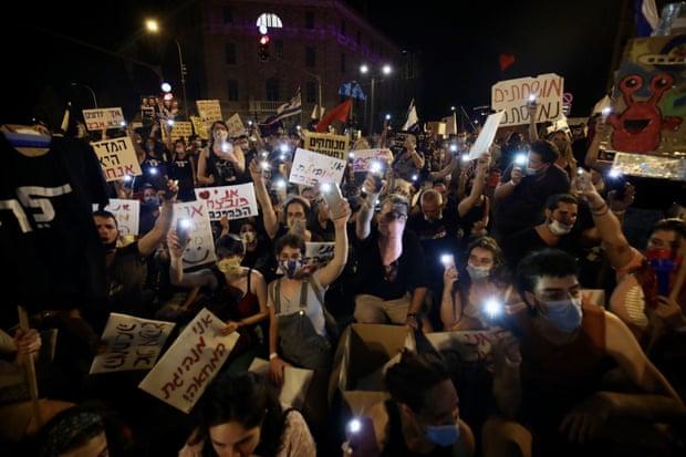 Երուսաղեմում Բենյամին Նեթանյահուի հրաժարականի պահանջով տեղի է ունեցել հերթական բողոքի ակցիան