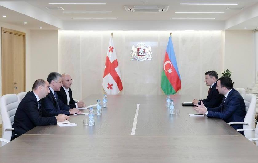 İrakli Ğaribaşvili Azərbaycan Respublikasının səfiri ilə vida görüşünü keçirdi
