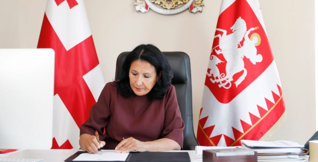 Президент назначила выборы в парламент Грузии и Верховный совет Аджарской Автономной Республики на 31 октября