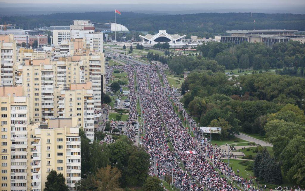 Belarusda 6 sentyabrda ölkə miqyası ilə keçirilən aksiyalarda 633 iştirakçını yaxaladılar