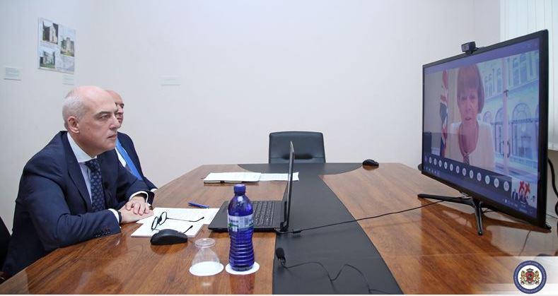 დავით ზალკალიანსა და გაერთიანებული სამეფოს საგარეო, თანამეგობრობის და განვითარების საქმეთა მინისტრს, უენდი მორტონს შორის ვირტუალური შეხვედრა გაიმართა