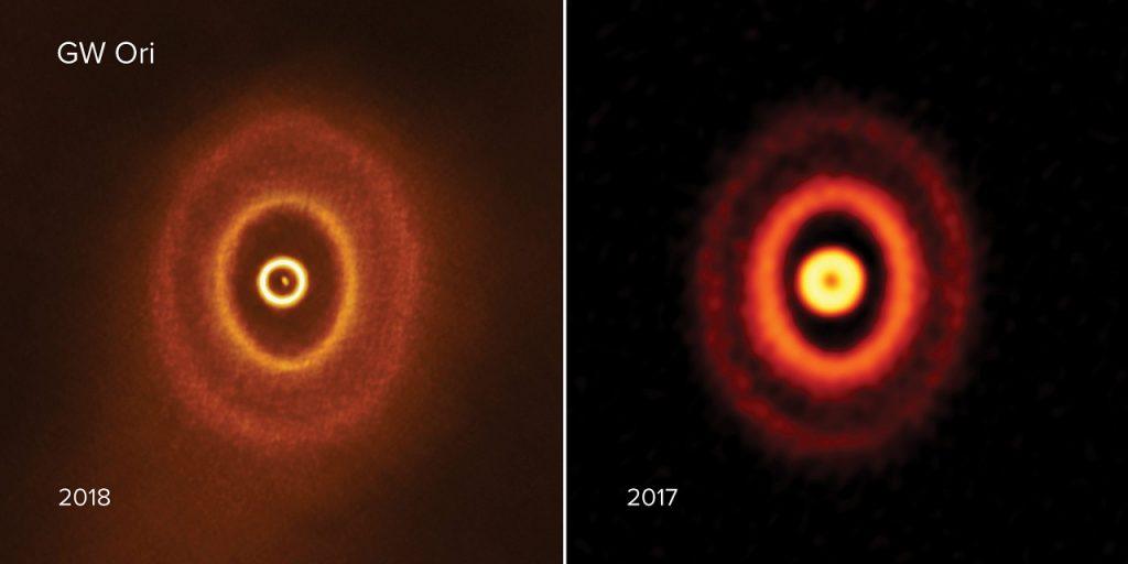 ორიონის თანავარსკვლავედში მდებარეობს უცნაური სამვარსკვლავიანი სისტემა, რომლის გარშემო პლანეტები ახლა იბადებიან — #1tvმეცნიერება