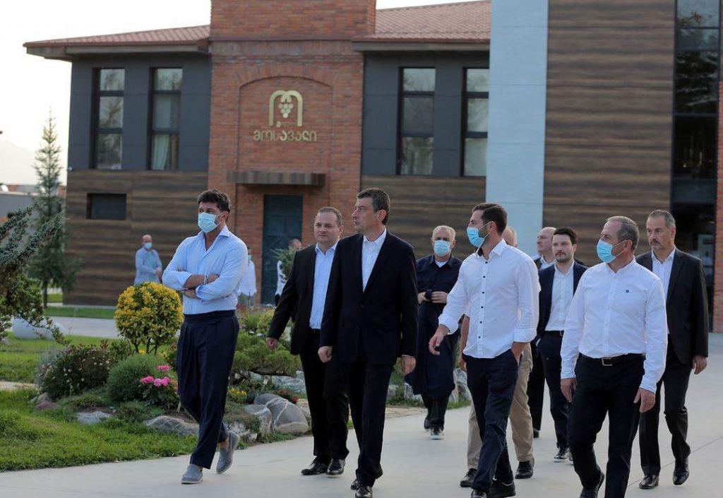 """""""ქართული ოცნების"""" ლიდერები """"შეღავათიანი აგროკრედიტის"""" მხარდაჭერით შექმნილ კომპლექს """"ვილა მოსავალში"""" იმყოფებოდნენ"""