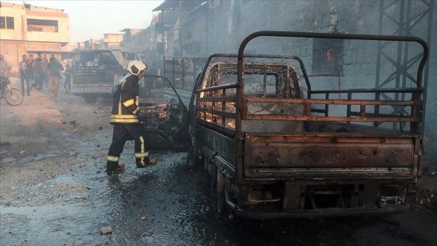 სირიის ქალაქ აფრინში დანაღმული ავტომობილის აფეთქებას ცხრა ადამიანი ემსხვერპლა, დაშავდა 43
