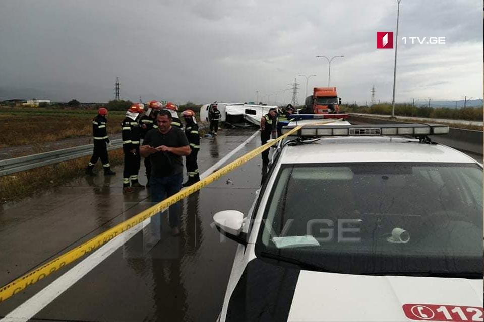 Վրաստանում, Քարելի-Խաշուրի ճանապարհատվածում տեղի ունեցած ավտովթարի հետևանքով զոհվել է մեկ մարդ, կան տուժածներ