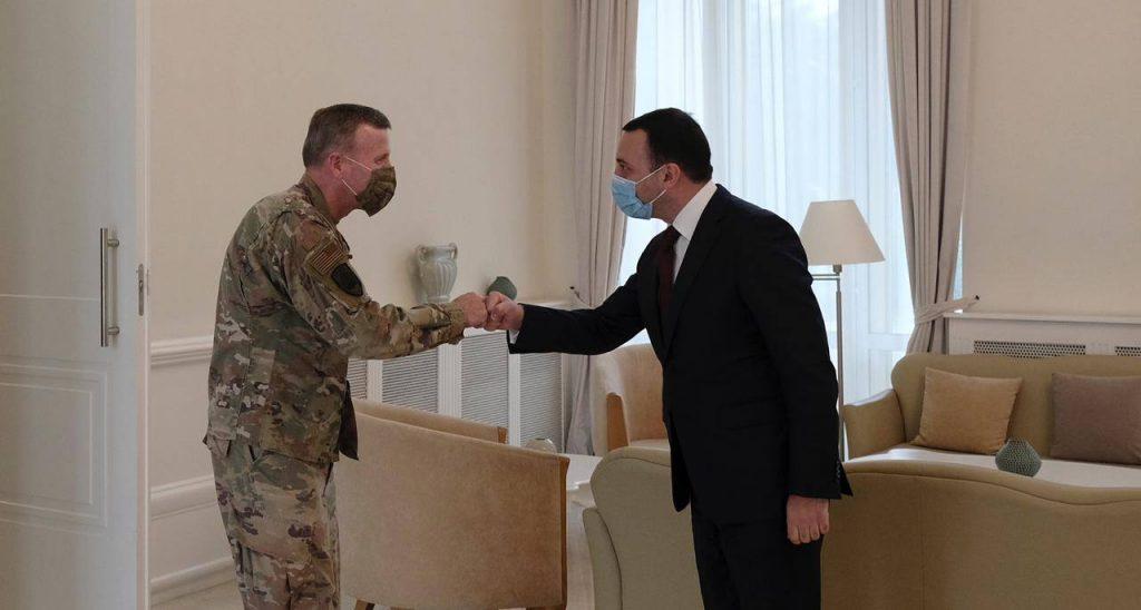 Ираклий Гарибашвили встретился с Верховным главнокомандующим союзными войсками в Европе