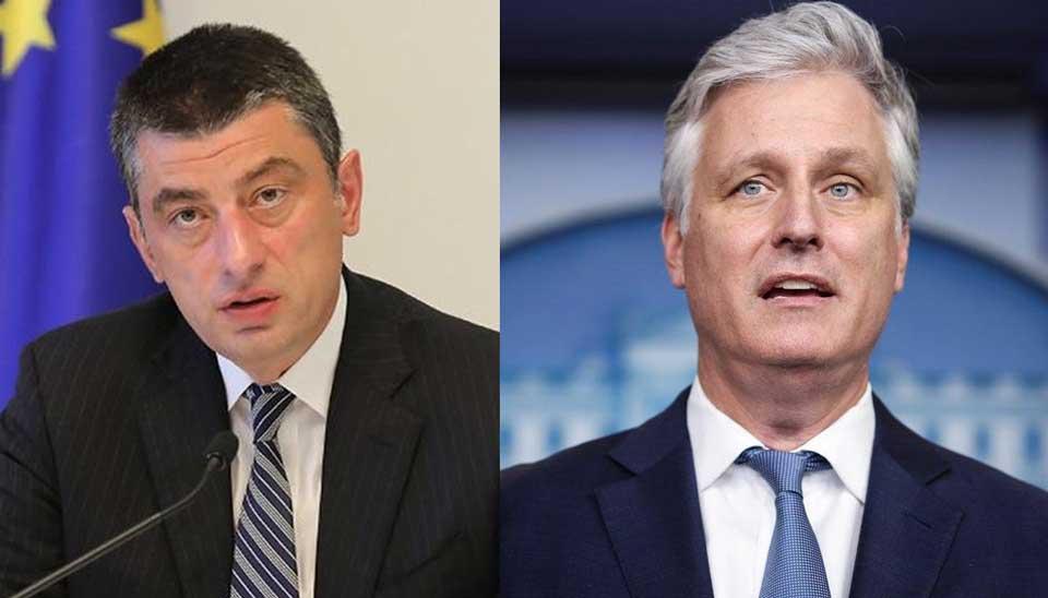Telephone conversation between Georgian PM, Trump's National Security Adviser