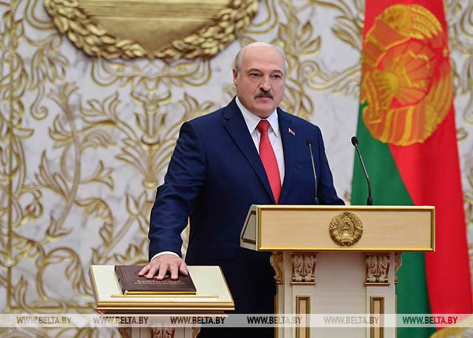 Alexander Lukashenko inaugurated in Minsk