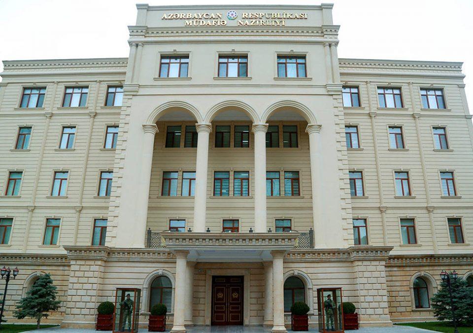 Armenian military forces attacking Azerbaijani Terter city