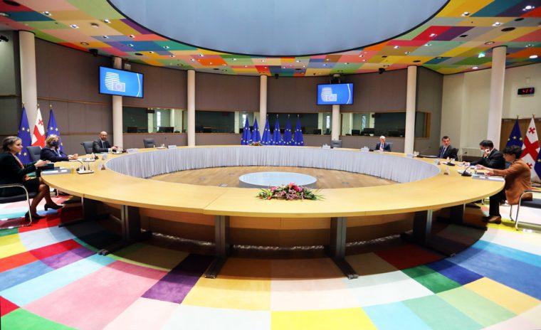 დავით ზალკალიანი - შარლ მიშელთან შეხვედრაზე ხაზი გაესვა ევროკავშირში ინტეგრაციას, როგორც საქართველოს საგარეო პოლიტიკის მთავარი პრიორიტეტს, რომელიც ქვეყნის კონსტიტუციაში არის ასახული