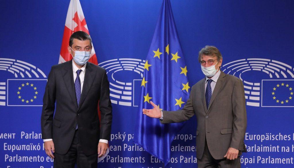 გიორგი გახარიამ და ევროპარლამენტის პრეზიდენტმა საქართველოს დემოკრატიული განვითარებისა და ინსტიტუციური გაძლიერებისკენ მიმართულ რეფორმებზე ისაუბრეს