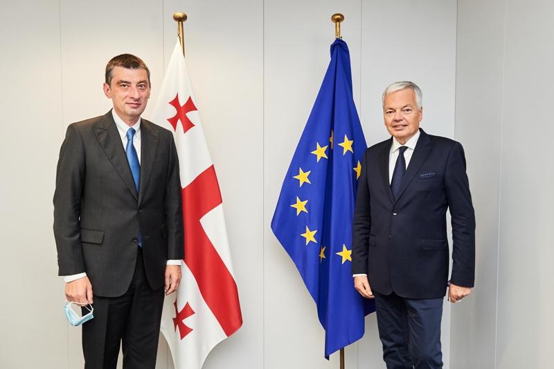 Giorgi Qaxariya Avropa Komissarı Didier Reynders ilə görüşdü