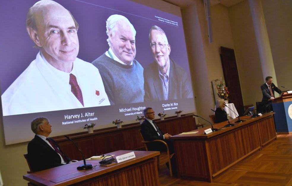 """მედიცინის დარგში 2020 წლის ნობელის პრემია სამმა ვირუსოლოგმა""""ცე"""" ჰეპატიტის ვირუსის აღმოჩენისთვის მიიღო"""