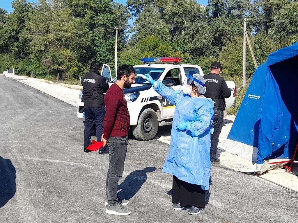 კახეთის სოფელ ერისიმედში პოლიციის სპეციალური საკონტროლო პუნქტი მოეწყო