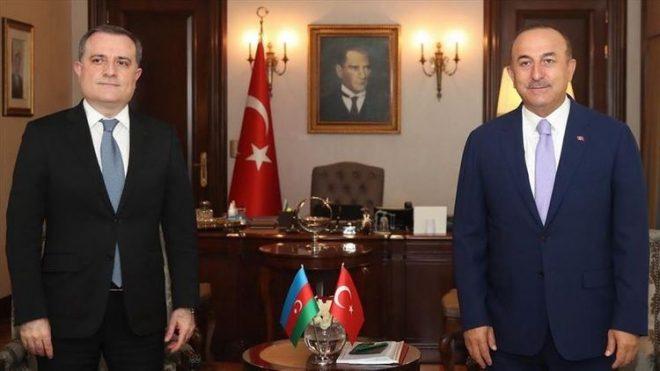 აზერბაიჯანისა და თურქეთის საგარეო საქმეთა მინისტრებს შორის სატელეფონო საუბარი შედგა