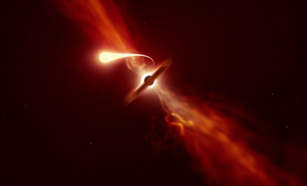 დაფიქსირებულია შავი ხვრელის მიერ ვარსკვლავის შთანთქმის უკანასკნელი მომენტები — #1tvმეცნიერება