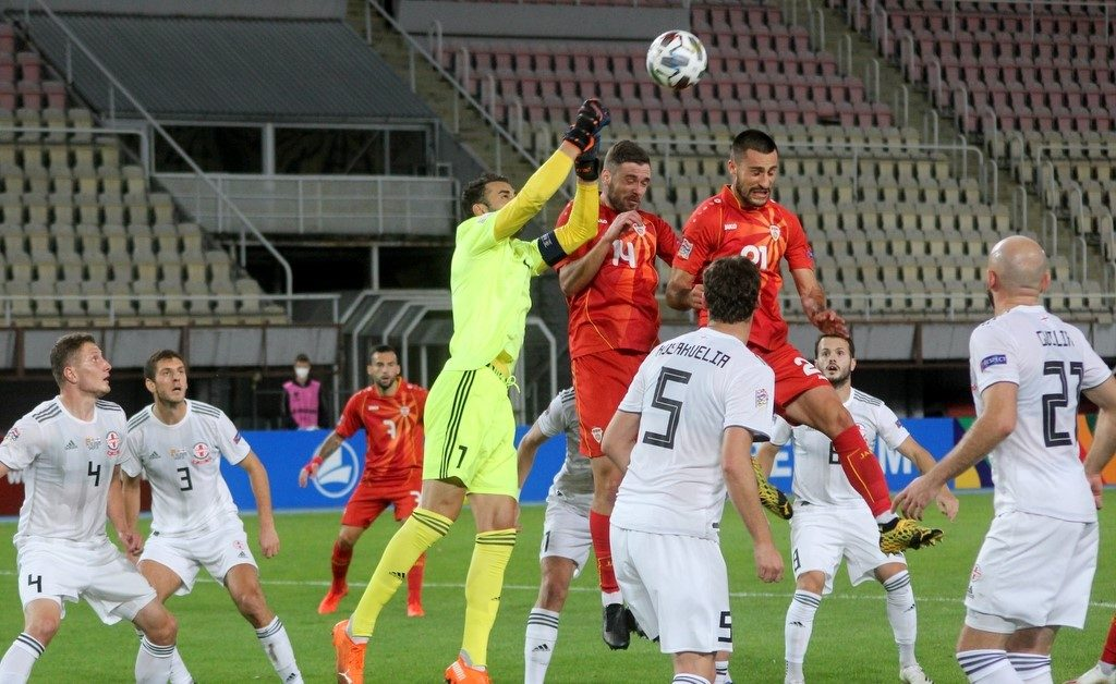 North Macedonia vs Georgia drew 1-1 in Skopje