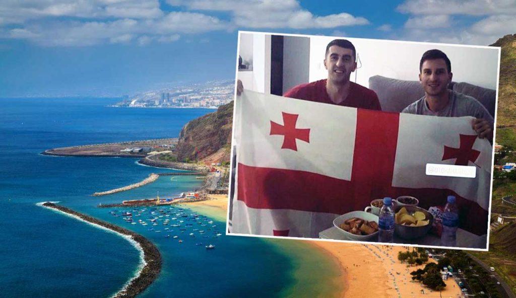 კაკაბაძეს ტენერიფეზე შერმადინი დახვდა - ქართველებმა კუნძულზე ეროვნული დროშა გაშალეს