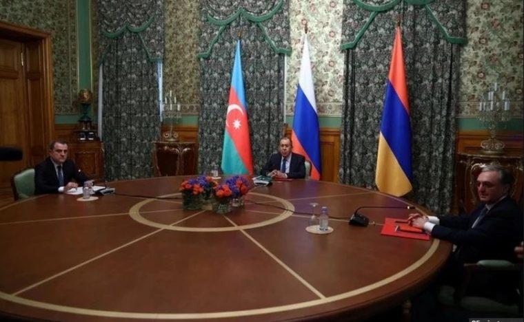 რუსეთის, აზერბაიჯანისა და სომხეთის საგარეო საქმეთა მინისტრებს შორის სატელეფონო საუბარი გაიმართა