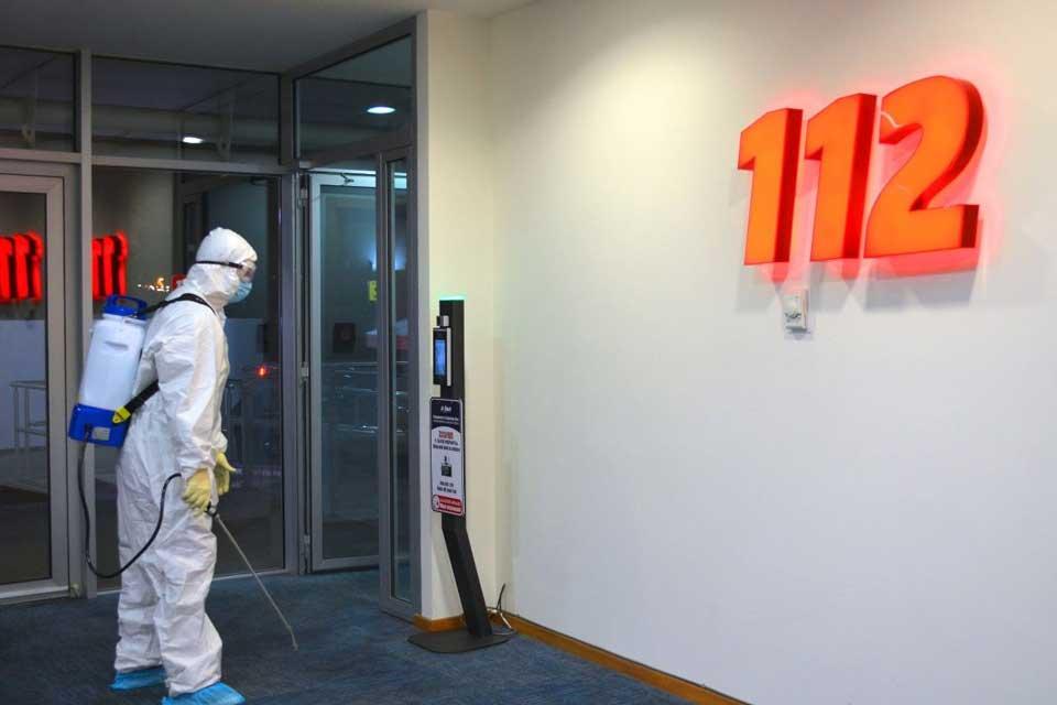შსს-ს საზოგადოებრივი უსაფრთხოების მართვის ცენტრ 112-ში სადეზინფექციო სამუშაოები ჩატარდა