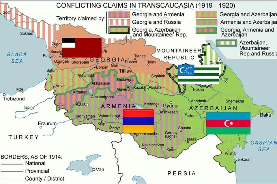 რადიო ექსპრესი - 1918-1921 წლები / კავკასია / ოთხი დამოუკიდებელი ქვეყანა / გეოპოლიტიკური სიტუაცია