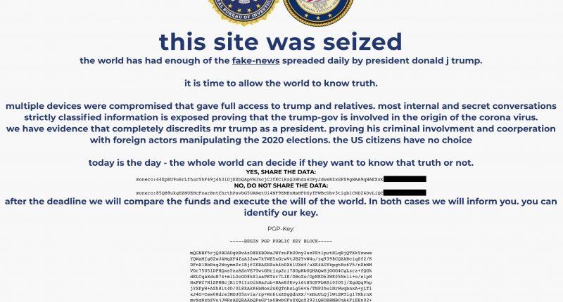 Դոնալդ Թրամփի ընտրական շտաբի վեբ կայքի վրա իրականացվել է հակերային հարձակում