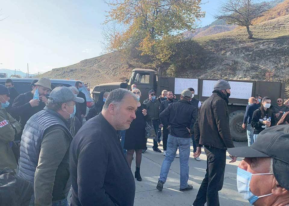 Protest rally in Mestia