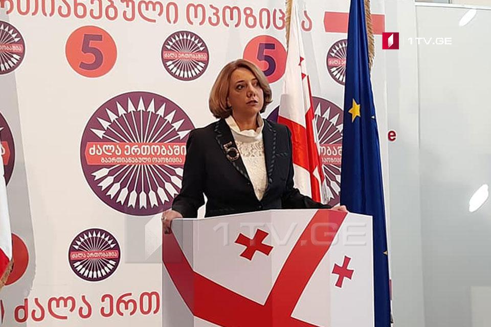 Salome Samadashvili calls on oppositional parties for not signing CEC summarizing protocols