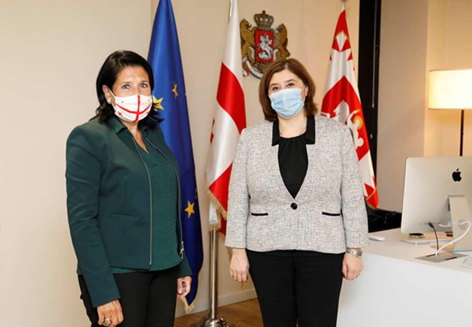 Salome Zurabishvili: Despite the pandemic, the CEC held exemplary and democratic elections