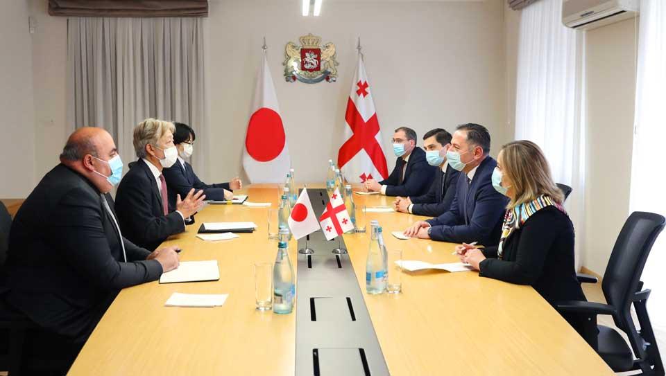 ვახტანგ გომელაურმა იაპონიის ელჩთან გამოსამშვიდობებელი შეხვედრა გამართა