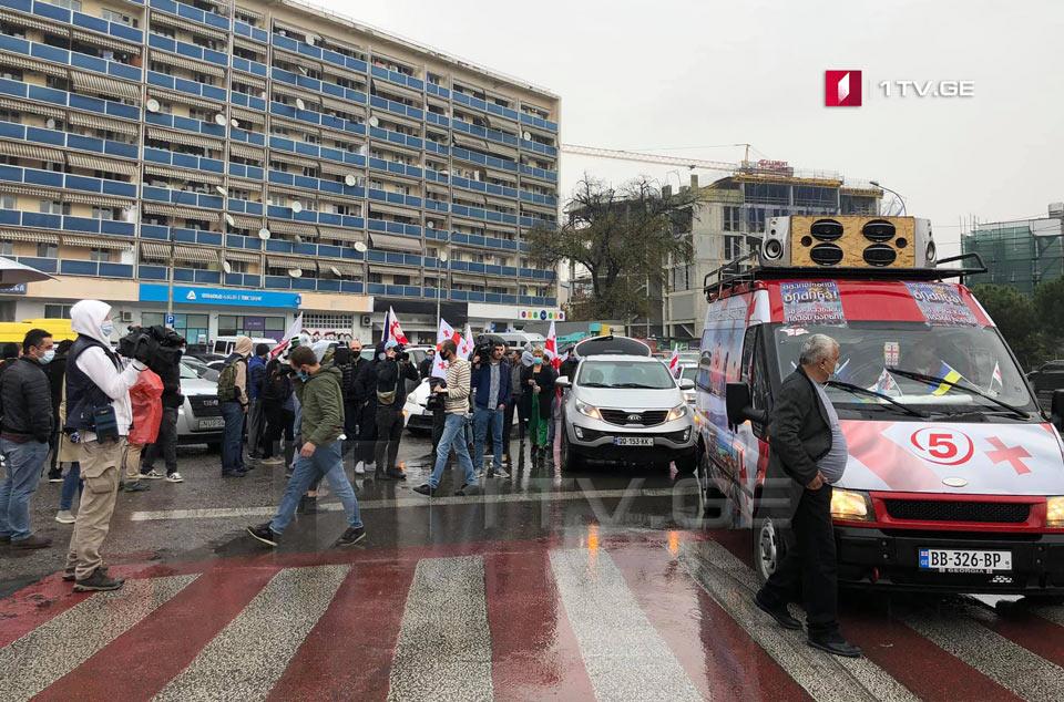 Члены «Национального движения» проводят протестное шествие