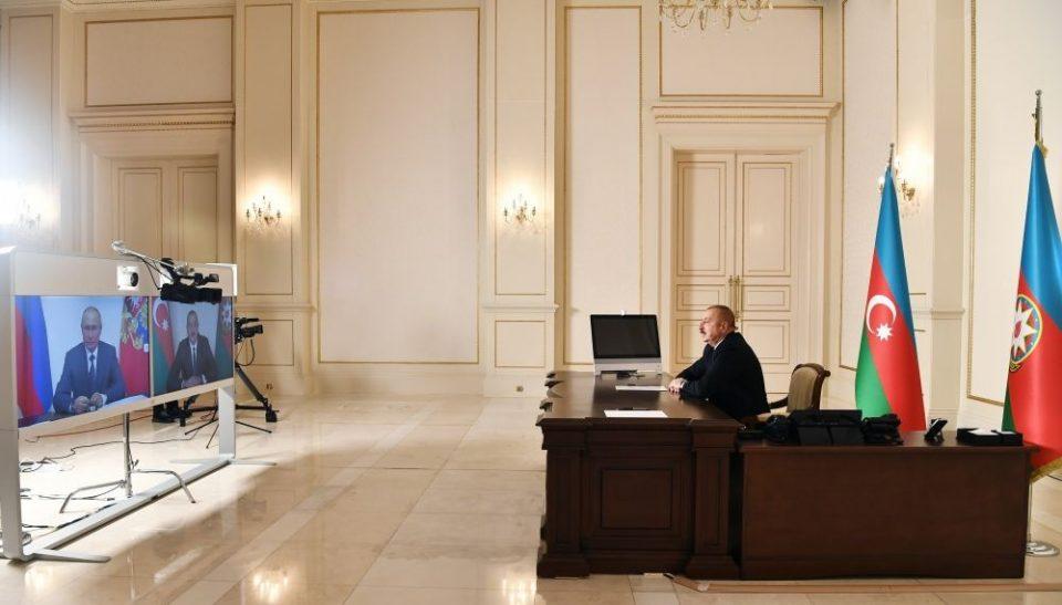 ილჰამ ალიევი აცხადებს, რომ შეთანხმების ერთ-ერთ პუნქტს მთიან ყარაბაღში რუსეთისა და თურქეთის ერთობლივი სამშვიდობო მისია წარმოადგენს