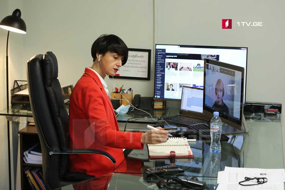 Тинатин Бердзенишвили провела онлайн мастер-класс для представителей СМИ по приглашению Общественного вещателя Молдовы