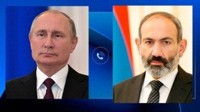 Vladimir Putin və Nikol Paşinyan arasında telefon söhbəti baş tutdu
