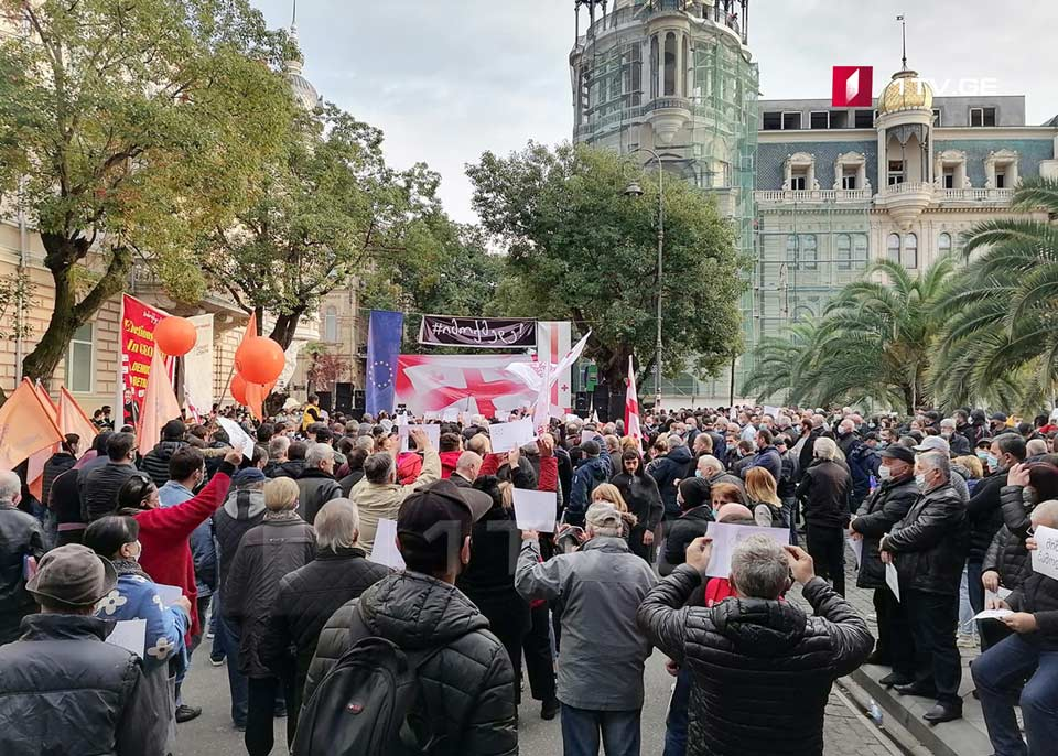Opposition resumes protest rally in Batumi