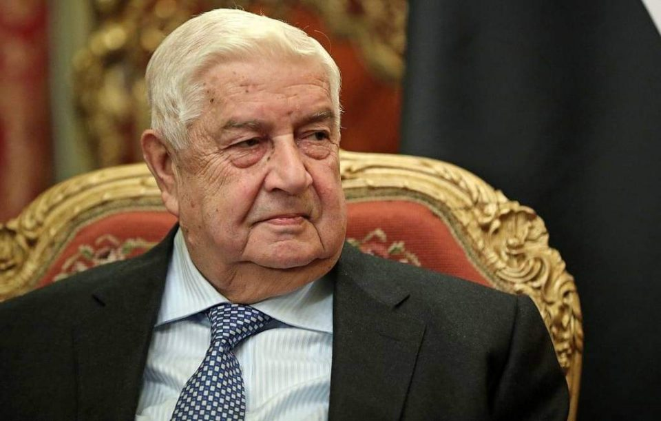 Սիրիայի արտաքին գործերի նախարար Վալիդ Ալ-Մուալեմը մահացել է 79 տարեկան հասակում