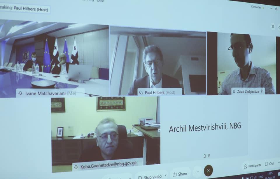 ივანე მაჭავარიანი და კობა გვენეტაძე ვირტუალურ ფორმატში საერთაშორისო სავალუტო ფონდის ახალ აღმასრულებელ დირექტორს, პოლ ჰილბერსს შეხვდნენ