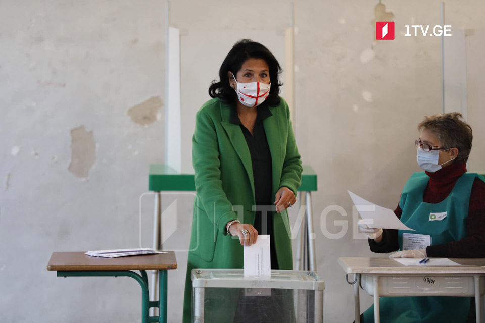 Саломе Зурабишвили - Очень надеюсь, что парламент Грузии будет многопартийным, деловым, за это проголосовали грузинские избиратели
