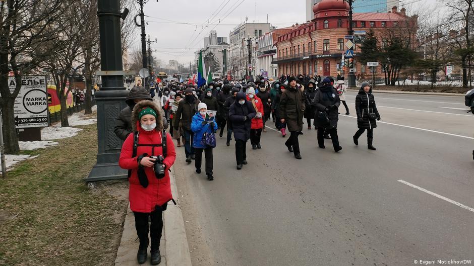Ռուսաստանի Խաբարովսկ քաղաքում ընթանում է բողոքի ցույց
