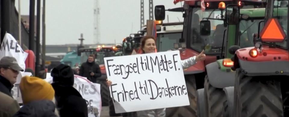 დანიელი ფერმერები წაულების მიმართ ქვეყნის მთავრობის პოლიტიკას აპროტესტებენ