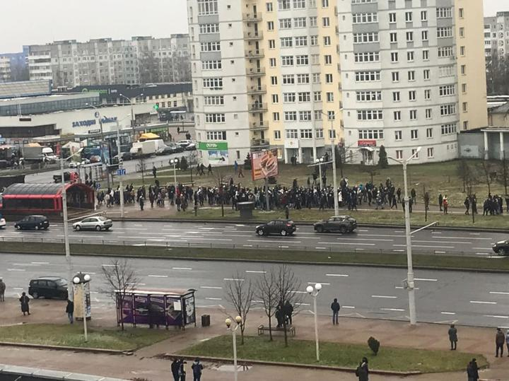 Protest rally being held in Minsk