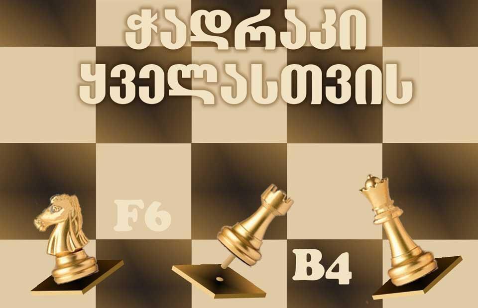 """ქართულ ენაზე და ბრაილის შრიფტით დაბეჭდილი წიგნი """"ჭადრაკი ყველასთვის"""" გამოიცა"""