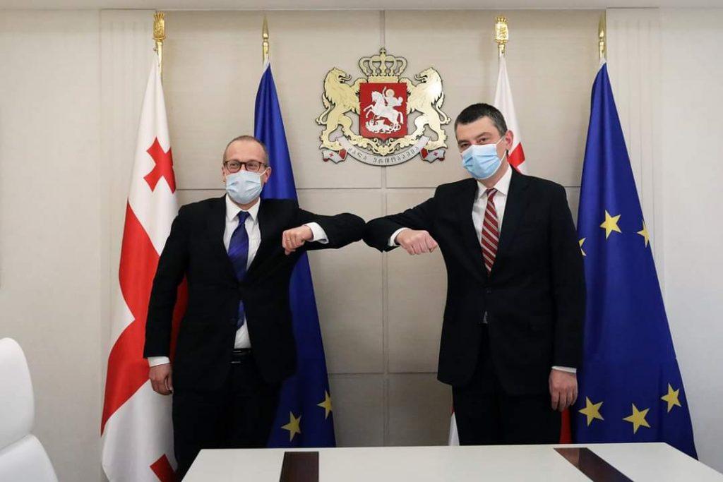 Ханс Клюге благодарит Георгия Гахария за реагирование на пандемию коронавируса и за лидерство в реформе здравоохранения