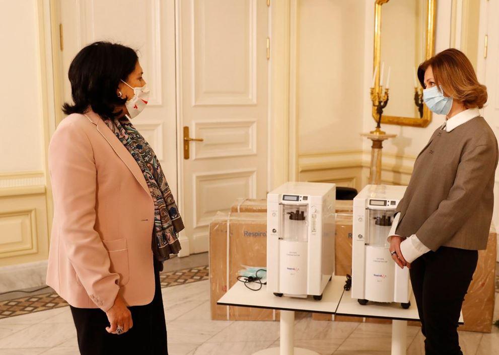 საქართველოს პრეზიდენტმა ჯანდაცვის სექტორს სასუნთქი აპარატები გადასცა