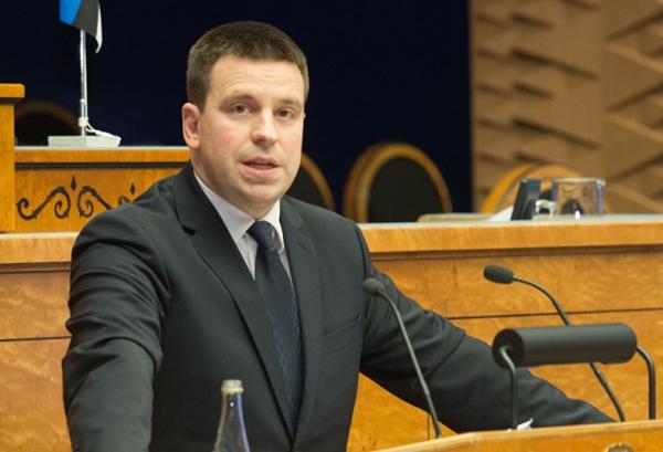 ესტონეთის პრემიერი - პარლამენტში სრული პოლიტიკური სპექტრი, სტაბილურობა და ერთსულოვნება კრიტიკულად მნიშვნელოვანია რთულ სამეზობლოში დემოკრატიული ქვეყნის განვითარებისთვის