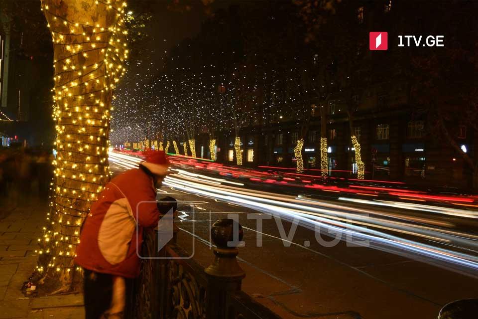 Улицы Тбилиси в Новогоднюю ночь [фото]