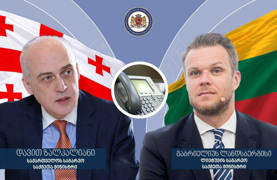 Georgian FM holds telephone conversation with his Lithuanian counterpart