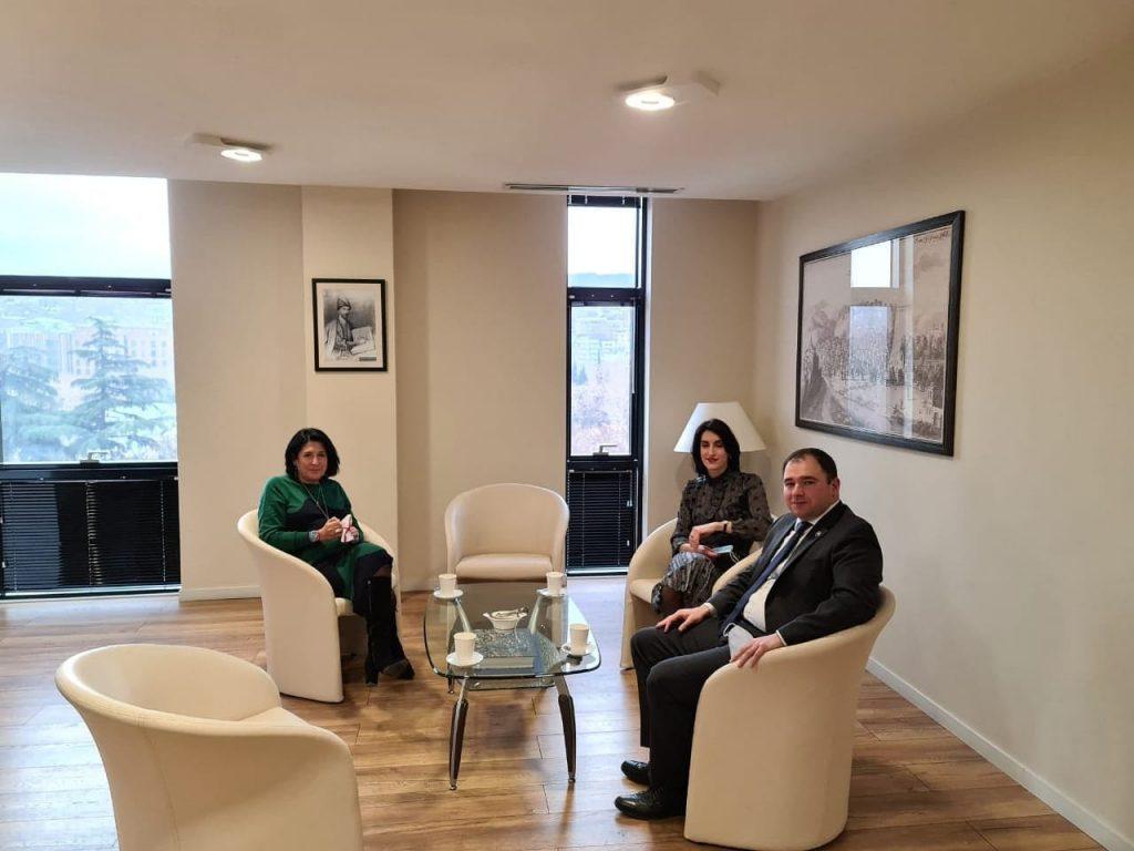 Саломе Зурабишвили встретилась с председателями комитетов парламента Грузии
