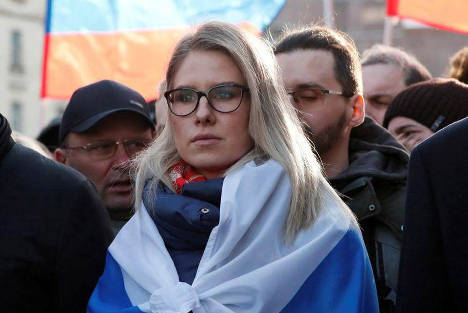 Rusiyada Aleksey Navalnının müttəfiqi Lyubov Sobolu yaxaladılar
